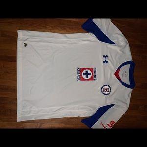 Under Armour Cruz Azul Liga Mx soccer jersey XL